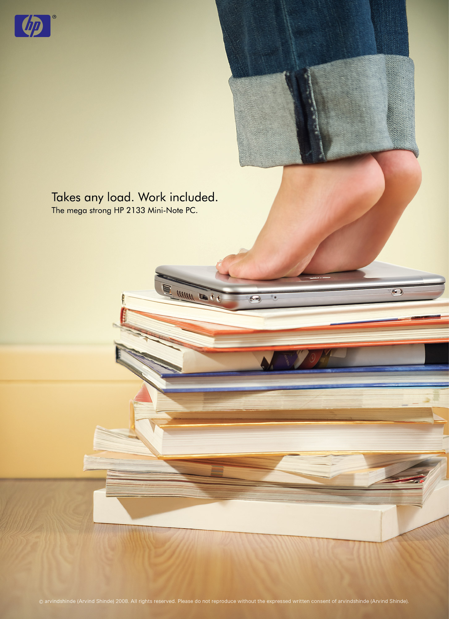 HP mini-note print ad middle east